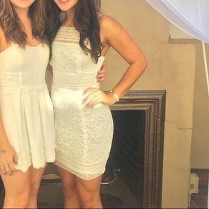 White lace dress from topshop